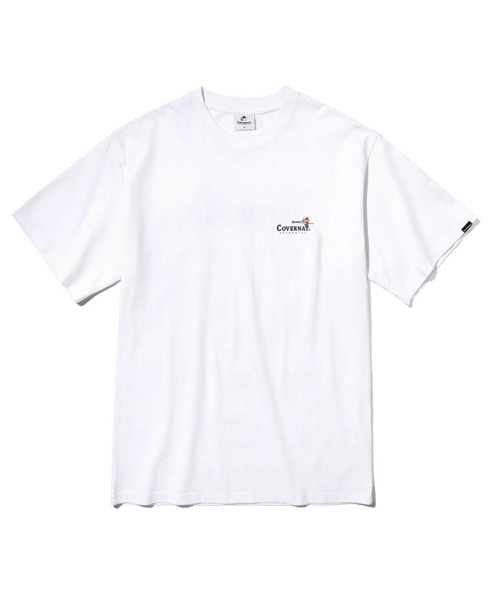 CXPEANUTS 70th SKATING TEE WHITE