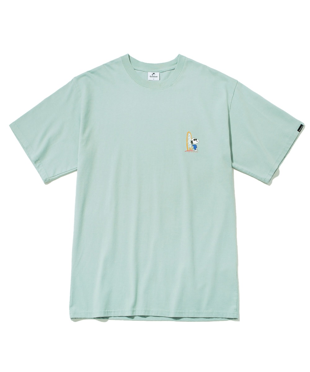 CXPEANUTS 70th SURFING SNOOPY TEE MINT