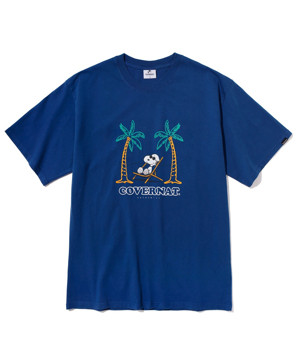 CXPEANUTS 70th YOLO SNOOPY TEE BLUE