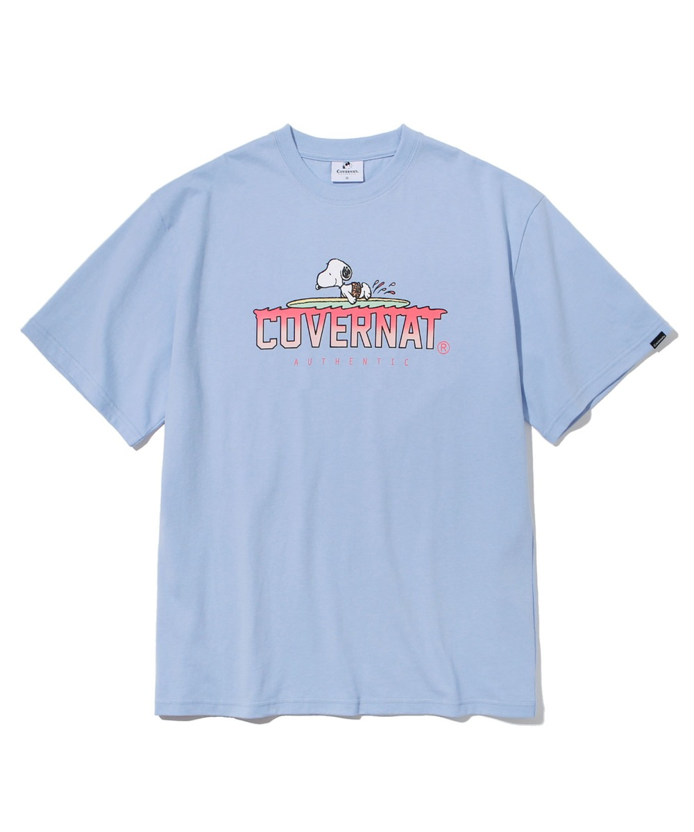 CXPEANUTS 70th PADDLING SNOOPY TEE PURIST BLUE
